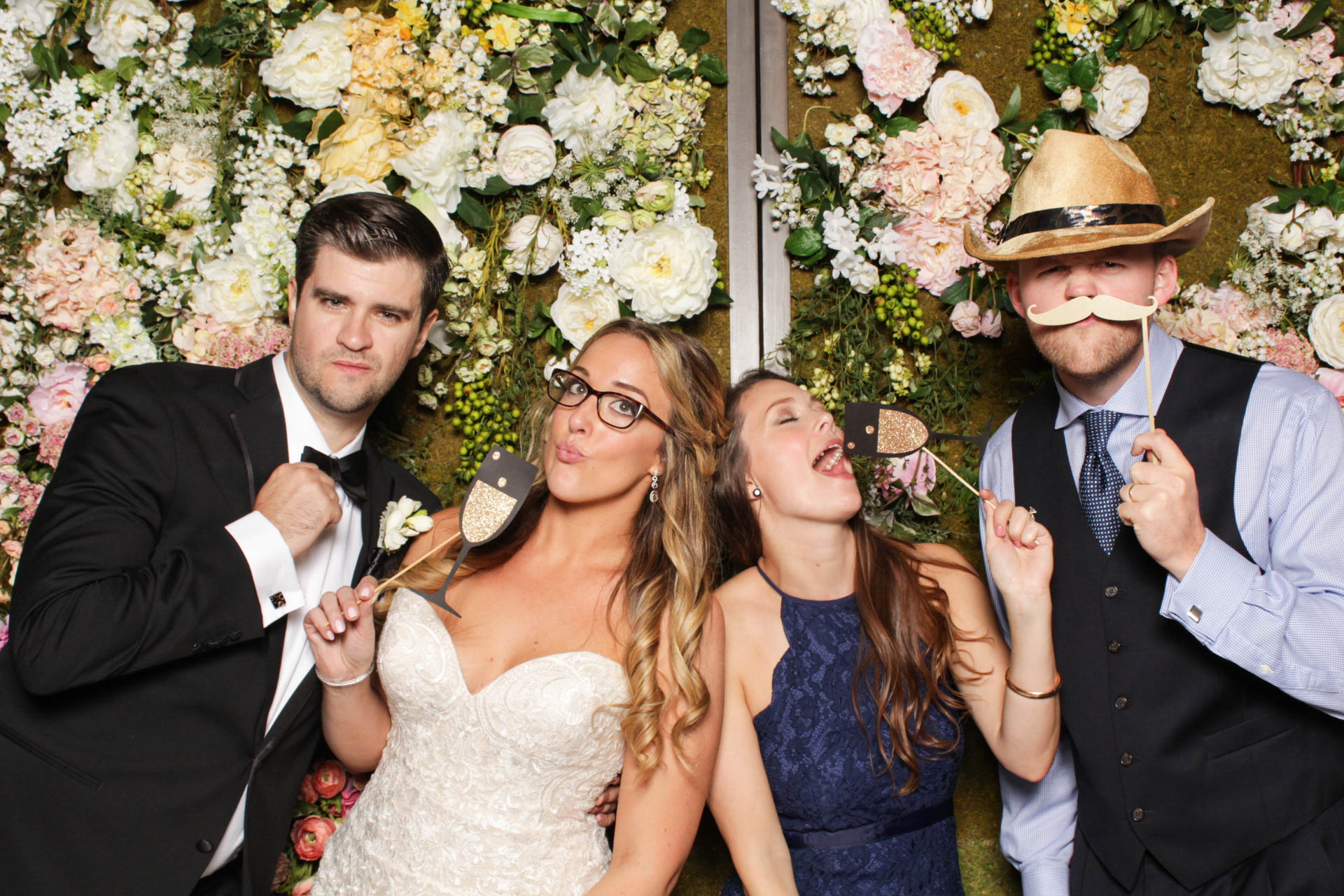 Bride and Groom In Philadelphia Photo Booth